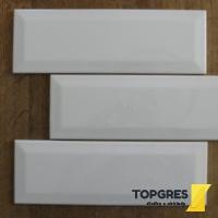 a537ce5d0c1 Topgres Florian keramický obklad 10x30 cm bílý lesklý
