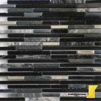 EUROSTONE Mozaika QUARTZ Black 300x305 mm
